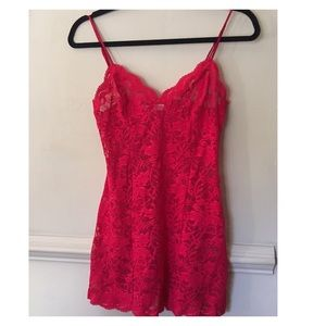 Victoria's Secret Red Lace Babydoll Size XS